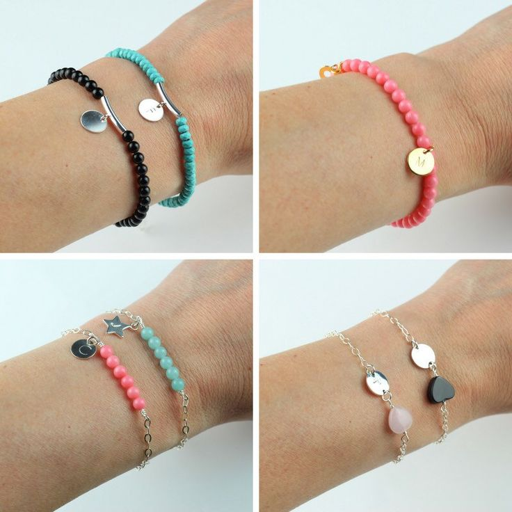 Pretty and delicate personalised bracelets - perfect for layering in the 🌞 sun