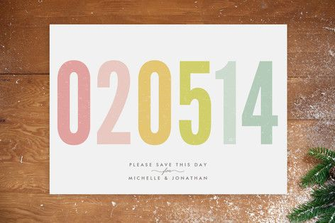 Ice Cream Parlour Pastels Save the Date Postcards by The Lovely Letters at minted.com