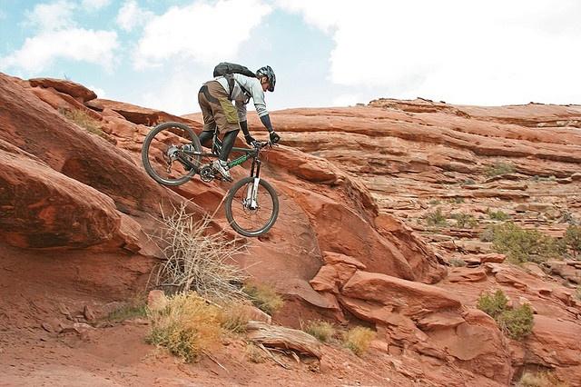 Mountain Biking at Slickrock in Moab, UT.