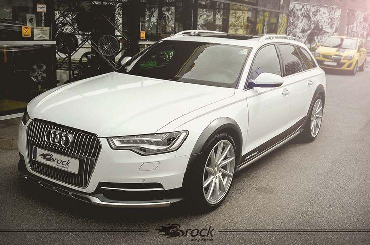 #Audi #A6 #Allroad mit der #Brock #B37 #Alufelgen in Kristallsilber Voll-Poliert (KSVP) in der Größe 9.0x20 mit Reifen 245/40R20