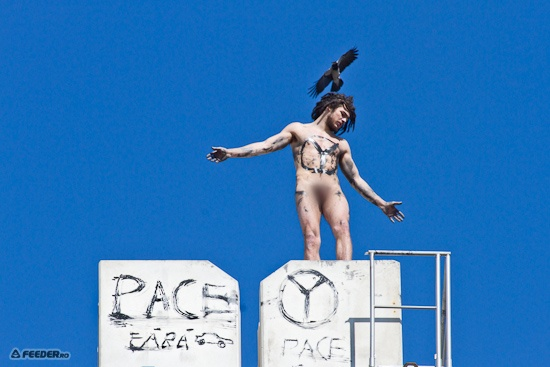 Protesting naked anti-cars! :D