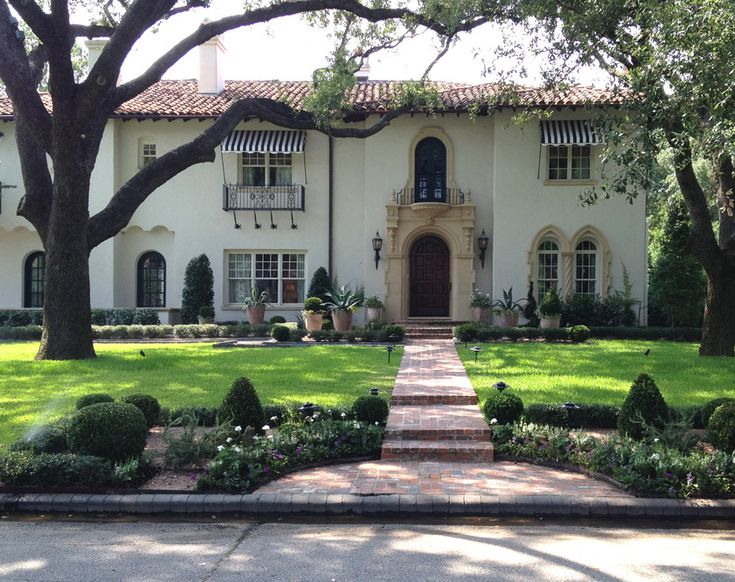 Mediterranean revival baldridge landscape baldridge Houston home design