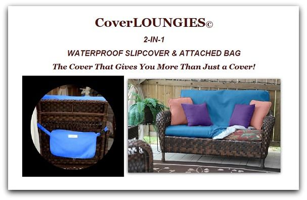 ARE YOUR OUTDOOR FURNITURE CUSHIONS LOOKING WEATHER-BEATEN?  If you can't afford to get new patio furniture and it's still in good condition but the cushions look terrible then CoverLOUNGIES© is your solution.  For a fraction of the price of new cushions, you can bring your furniture back to life.  NOW AVAILABLE ON EBAY!  www.coverloungies.com