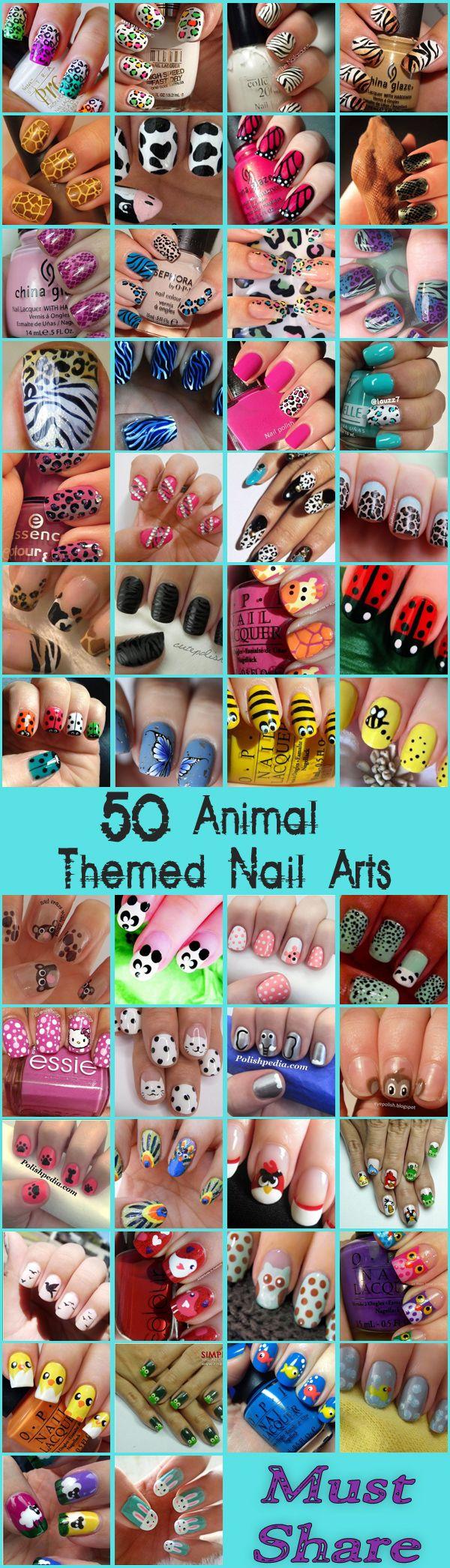 Nail Art Designs : Top 50 Animal Themed Nail Arts www.saturnostore.com