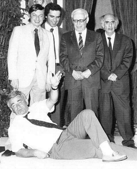 Boris Spassky, Anatoly Karpov, Garry Kasparov, Mikhail Botvinnik y Mikhail Tal (Bruselas, 1988).