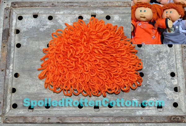Cabbage Patch Kid Crochet Hat Wig  Short Hair in Carrot Infant Toddler Adult CPK #SpoiledRottenCotton