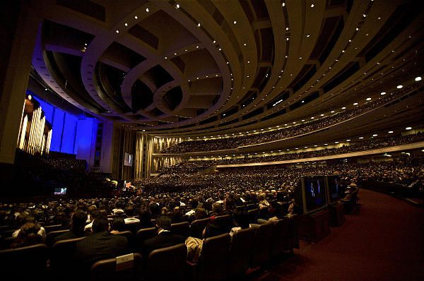 LDS Church leaders may now begin to deliver their general conference talks in their native languages. Until now, conference talks have been in English only. English subtitles will be displayed on screens in the Conference Center and broadcasts. (August Miller, Deseret News)