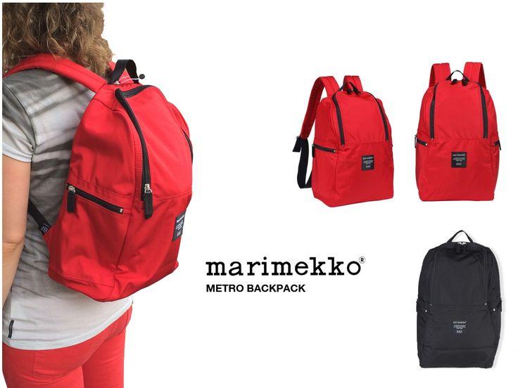 www.emma-b.nl/metro-backbag-rugtas-marimekko-rood  Marimekko backpack Metro in red or black. emma b. Shop : Oudegracht 218 / Hoek Hamburgerstraat Utrecht Netherlands.
