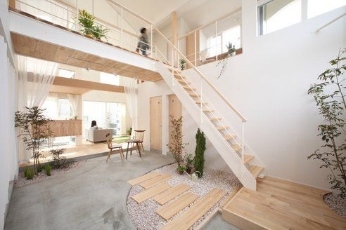 At only 1400 sqft, you could put this house anywhere Modern Japanese Ecovillage House Brings Nature Inside, Literally : TreeHugger