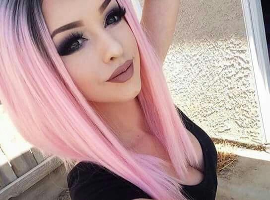 Moda sintetico anteriore del merletto parrucca caschetto corto ombre blu marrone viola nero rosa scuro radice con fibra resistente al calore dei capelli per le donne