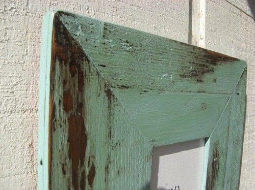 Turquoise Barnwood Frame