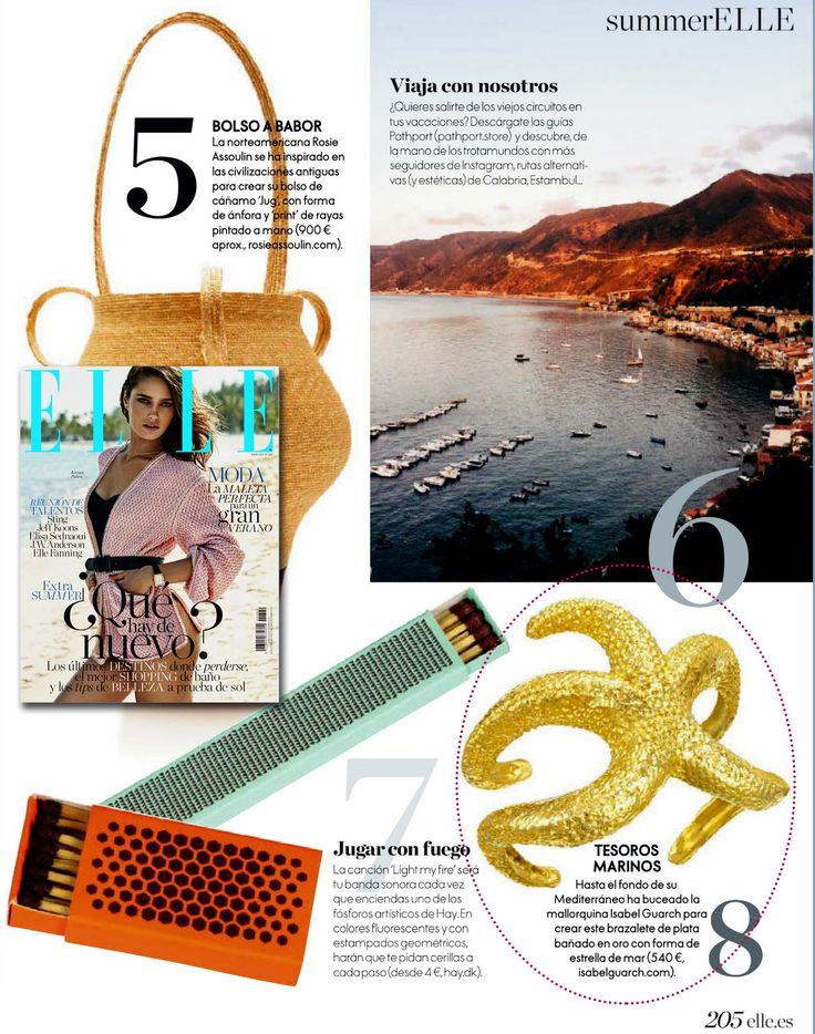 En la revista ELLE spain, sección Summer Elle: brazalete estrella by Isabel Guarch