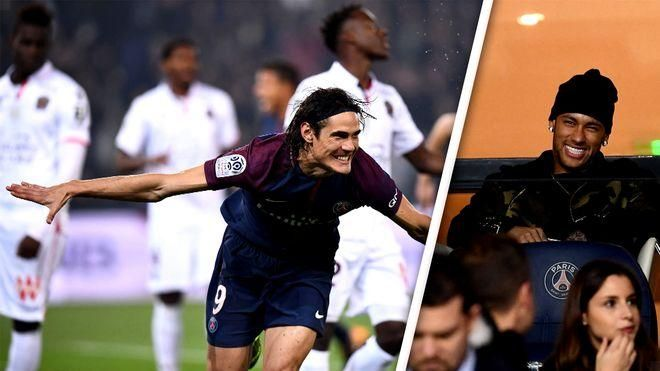 Cavani disassembles Nice – with the support of Dante. Monaco's mega talent is magical in Bordeaux and Strasbourg. Video highlights from France.  Paris Saint Germain – Nice 3-0    While Neymar is only sitting in the stands, goal machine Cavani almost solitary disassembles Lucien...