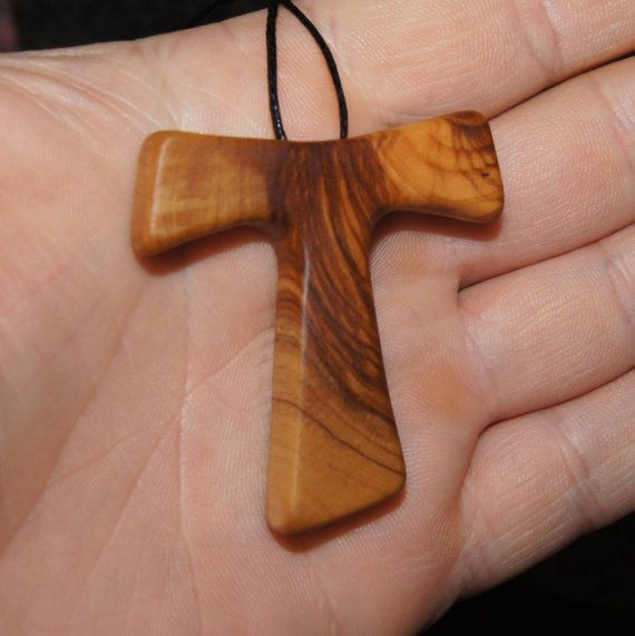 42 best tau images on pinterest saint francis san francisco and olive wood pendant wood jewelry tau cross by olivewoodjewellery mozeypictures Gallery