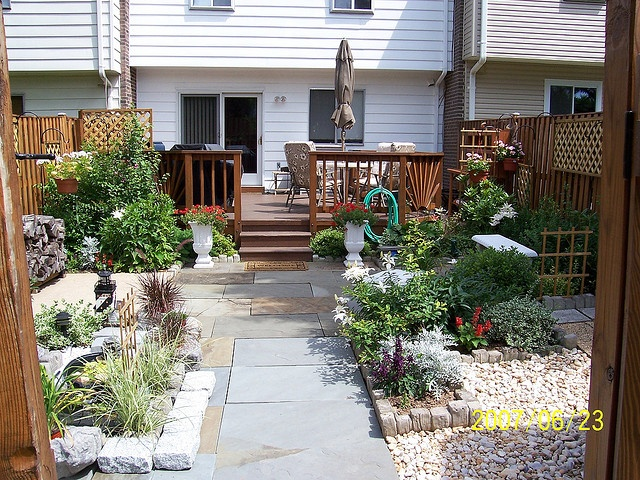 My Townhouse Backyard #4   Large backyard landscaping ... on Townhouse Patio Ideas id=49194