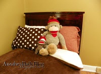 DIY Toddler Pottery Barn Farmhouse bed and sock monkey room re do (my sons)