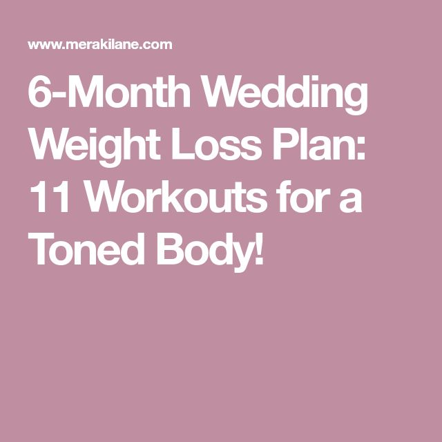 6-Month Wedding Weight Loss Plan: 11 Workouts for a Toned Body!
