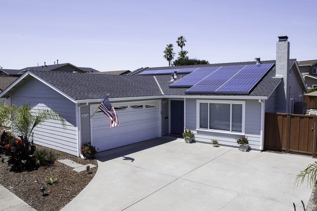 Solar panels installed on a home in California.