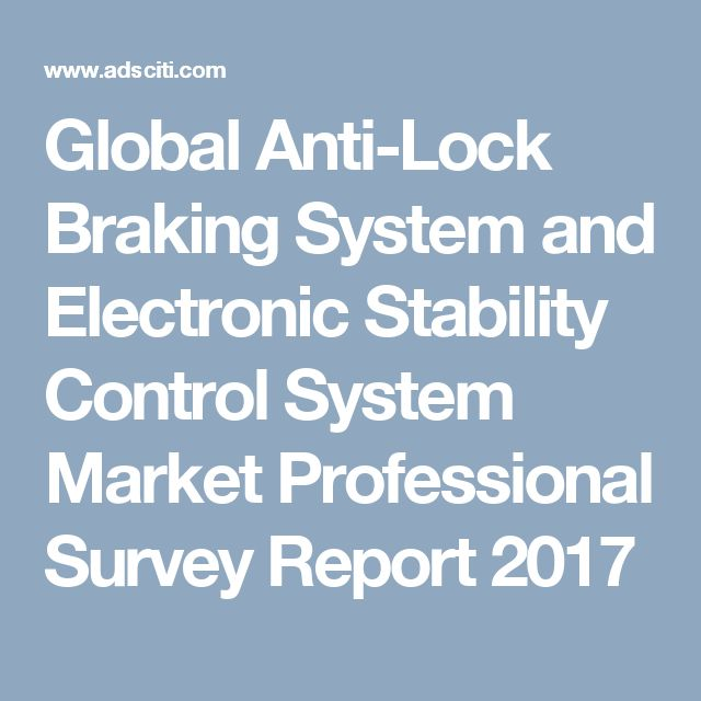 Global Anti-Lock Braking System and Electronic Stability Control System Market Professional Survey Report 2017