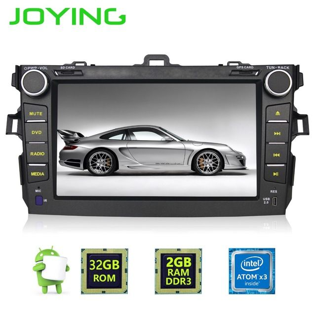 """Joying Quad Core 8""""2GB 32GB Double 2 Din Android 6.0 Head Unit For Toyota Corolla Car Radio Multimedia Player GPS Navigation *** Check this useful article by going to the link at the image. #CarElectronic"""