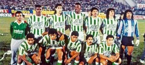 Atletico Nacional de Medellin, Colombia, campeon de la copa Libertadores de America  31 de Mayo de 1989.