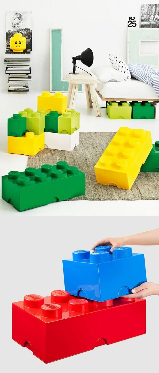 Stackable Lego Storage Bricks - brilliant!