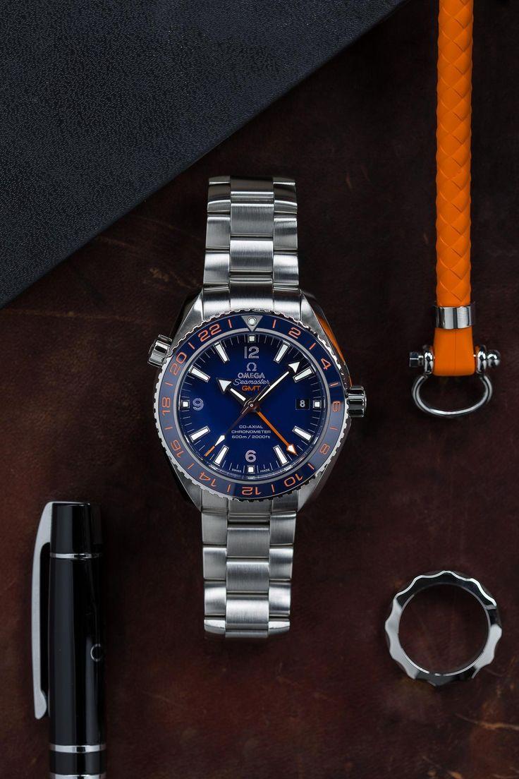 Omega - Seamaster Planet Ocean 600M GMT, ref.232.30.44.22.03.001 - Self-winding, cal.Omega 8605, 3.5Hz, 60hr p.r., chronometer, 24hrs GMT, date - 43.5mm, steel case, blue ceramic bi-directional bezel ring, blue dial ~6.8k