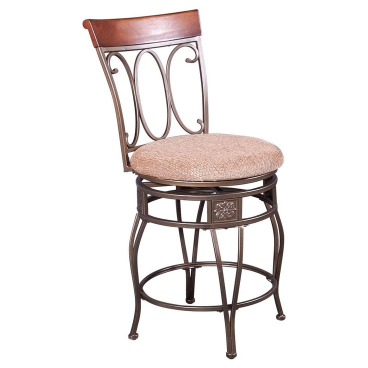 Wallace Swivel Backed 24 Counter Stool Neutral Powell