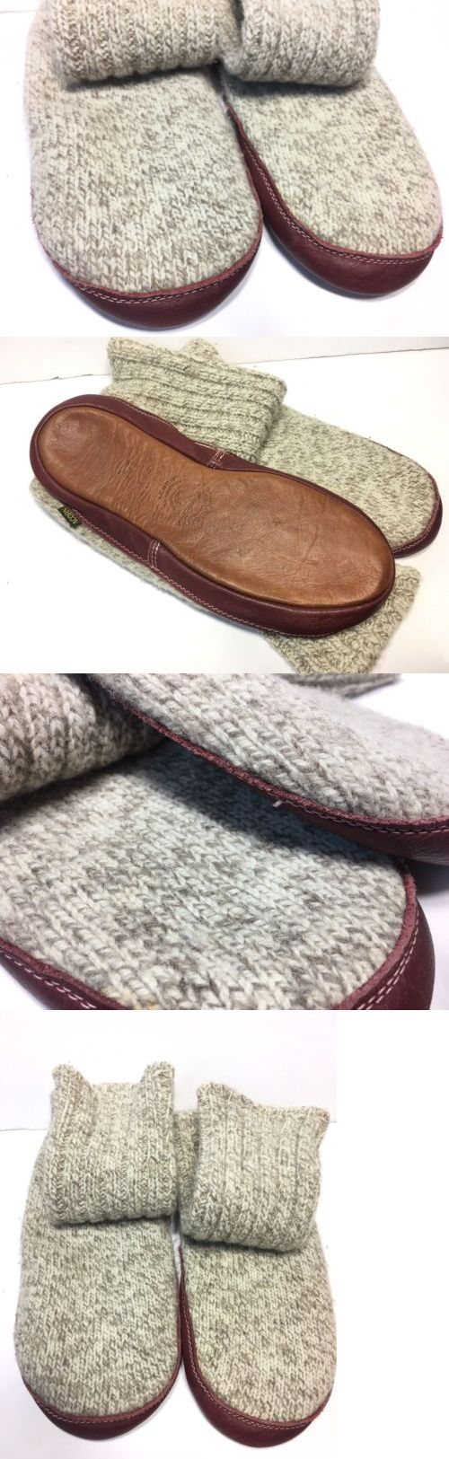 Slippers 163550: Acorn Slippers Socks Mens M (9-10)Cable Knit Wool Leather Womens (10.5-11.5) New -> BUY IT NOW ONLY: $31.96 on eBay!