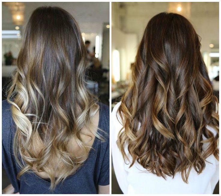 capelli colore castano con effetto balayage trend 2014 estate
