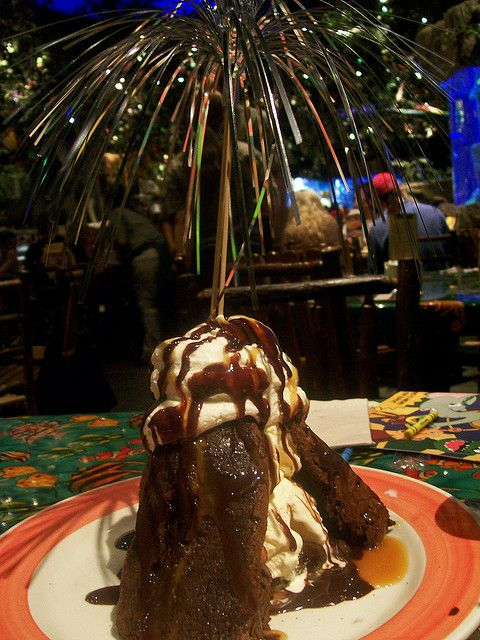 Make a volcano dessert like we had at Rainforest Cafe (lots of recipes online)