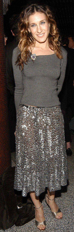 sequin skirt sarah jessica parker