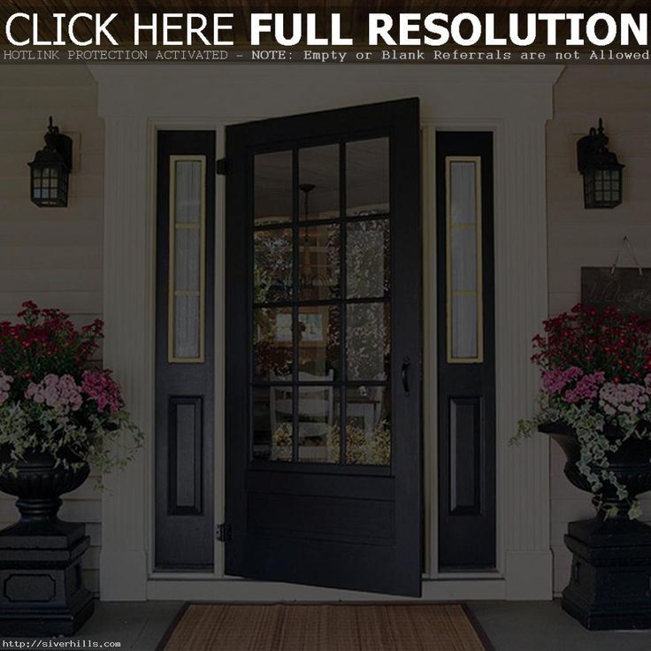 There is something stately and sophisticated about a black front entry door. Even the more casual style black doors give an impression of. & 133 best Wrought Iron Steel Storm Doors images on Pinterest | Iron ... pezcame.com