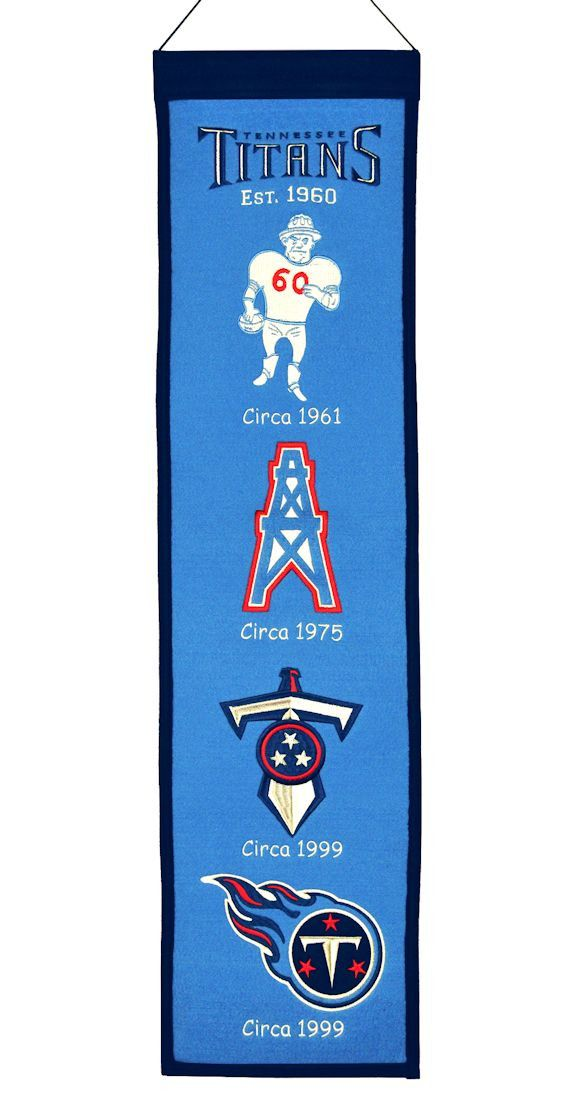 46657e2c649b6 Tennessee Titans Wool Heritage Banner - 8x32