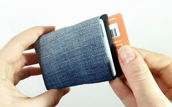 Denim Wallet Made from Recycled Jeans, Minimalist Wallet - Limited Edition Unique Minimalist Wallet