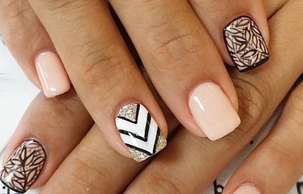 Diseños de uñas naturales sencillos, diseño uñas naturales rayas. Clic Follow,  #diseñouñas #unhas #uñasfinas