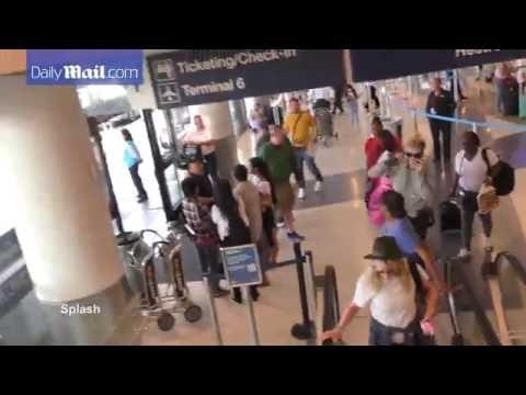 Kim Basinger daughter Ireland Baldwin departing LAX Airport-Kim Basinger daughter Ireland Baldwin departing LAX Airport