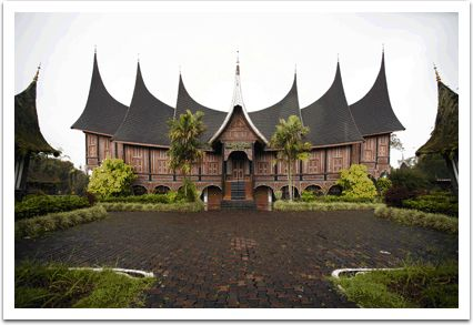 Rumah Gadang, traditional house that came from Minang Tribe, padang West Sumatra, Indonesia