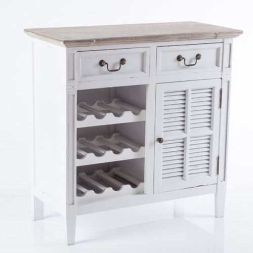 Credenza-Dispensa-porta-bottiglie-in-legno-colore-bianco-cm-80x38-altezza-84