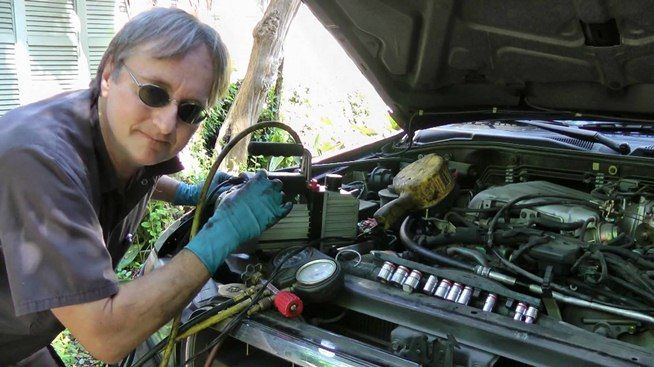If the air conditioner in your car has stopped pumping cold air out, you probably have a refrigerant leak somewhere in the system. In this video you will learn how to find the leak in your A/C and fix it, keeping yourself cool and comfortable.