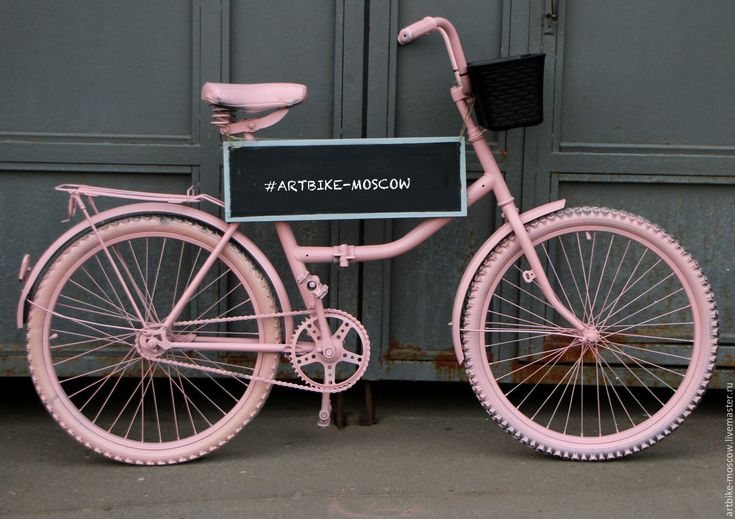 Купить Декоративный велосипед клумба для цветов, арт объект Dymmi - бледно-розовый, розовый, велосипед