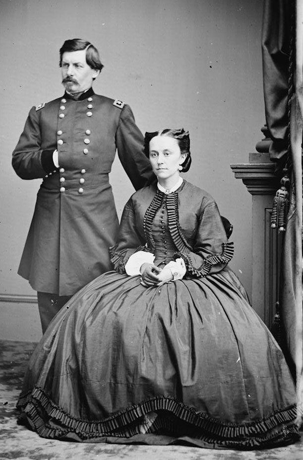 * George Brinton McClellan and Mary Ellen Marcy McClellan * American Civil War.