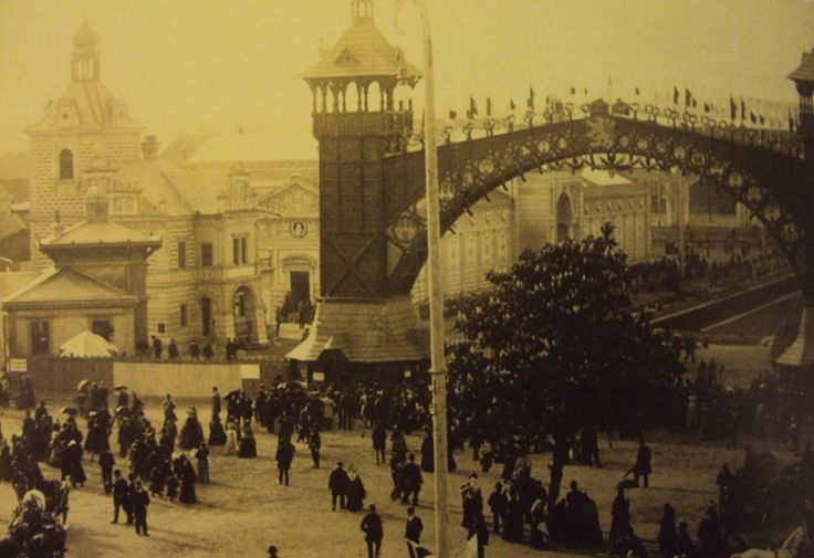 Prague Holesovice Exhibition Area - Historical Photograph
