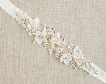 Crystal Wedding belt Bridal belt Crystal bridal belt by LeFlowers