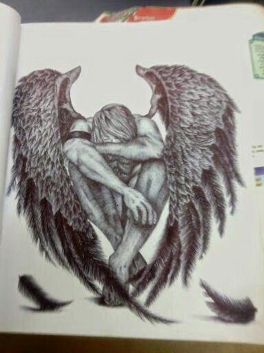 Fallen Angel tattoo idea