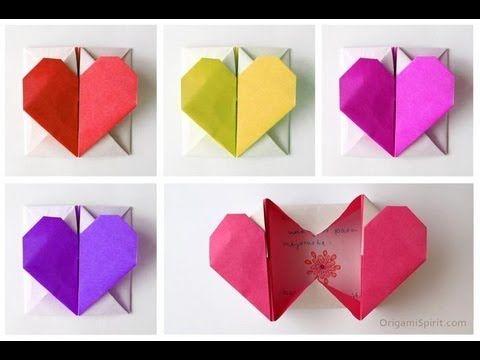 Tutorial Origami: scatola a forma di cuore