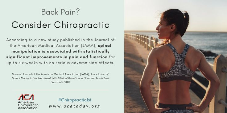 (press release from acatoday.org) A new study published in the Journal of the American Medical Association (JAMA) adds to a growing body of recent research supporting the use of spinal manipulative therapy (SMT) as a first line treatment for acute low back pain, according to the American...