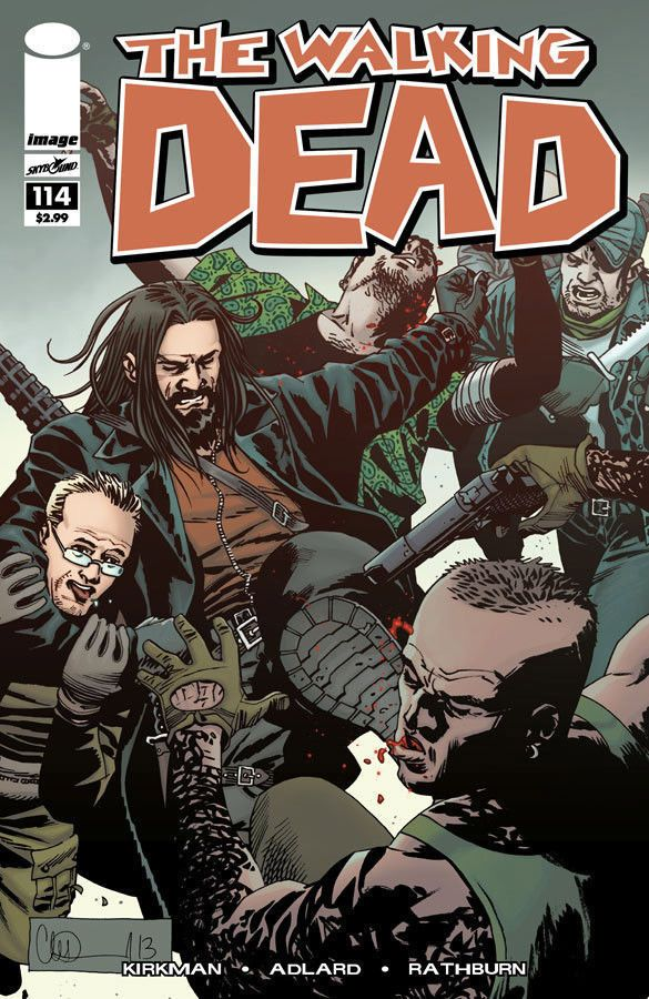 THE WALKING DEAD #114 KIRKMAN ADLARD Jesus vs Negan ALDRED  Image HOT VF