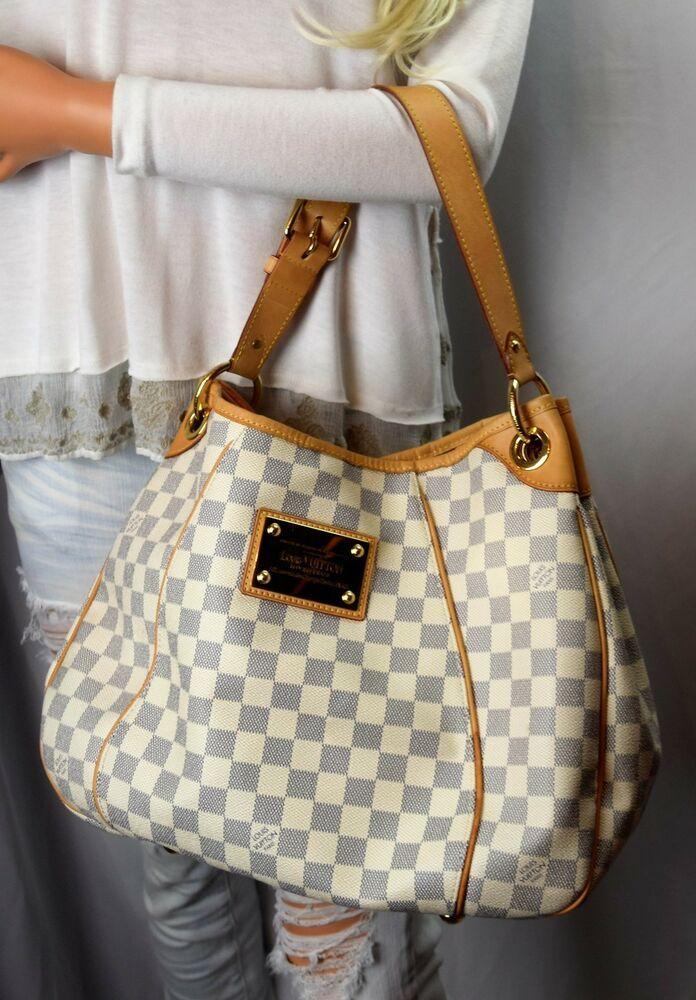 466b6f8e LOUIS VUITTON Damier Azur Canvas Galleria PM Handbag #LouisVuitton ...