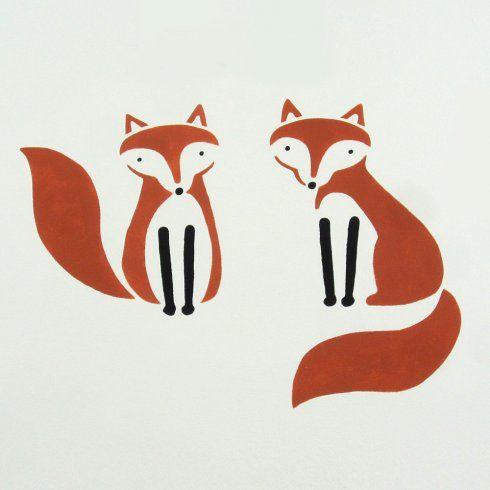 Cutting Edge Stencils - Fox Friends Stencil Kit